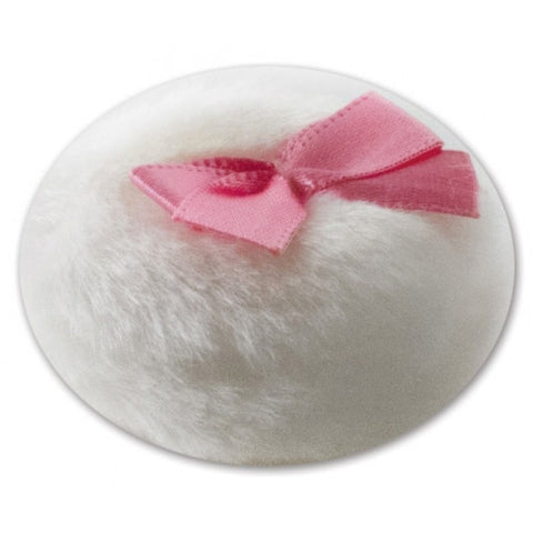 Microfiber Boa Puff with Ribbon
