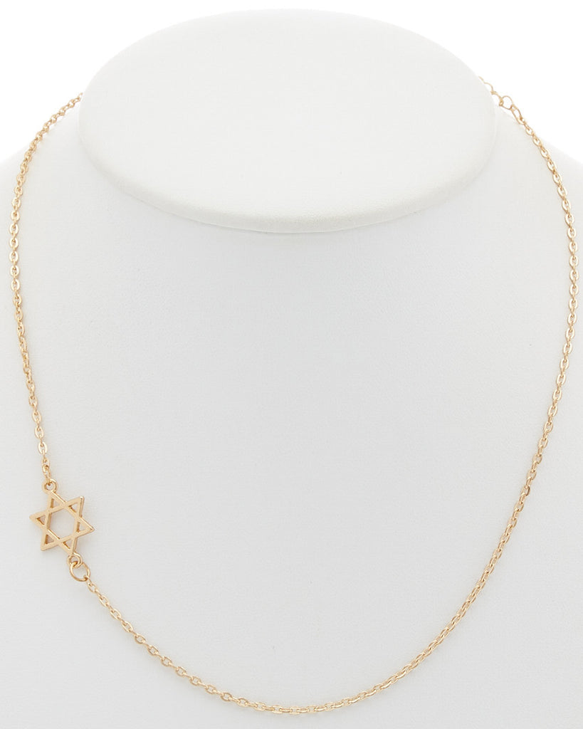 Star of David Asymmetrical Necklace