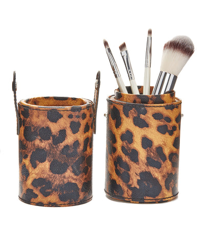 Four Piece Brush Set with Snap-On/Snap-Off Travel Brush Case