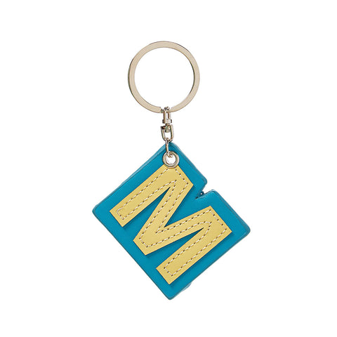 C Wonder Genuine Leather Initial Keychain - M