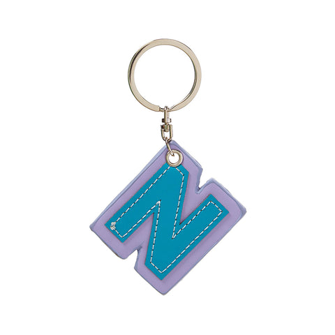 C Wonder Genuine Leather Initial Keychain - N