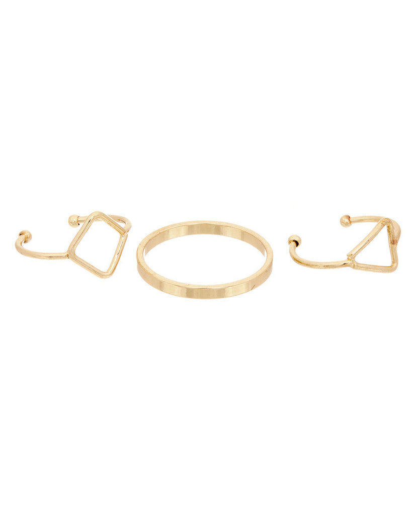 Triple Midi Ring Set - Adjustable