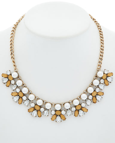 Pearl & Glass Statement Necklace