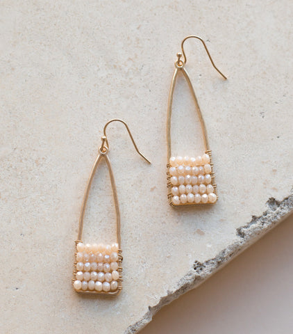 Beaded Crystal Drop Earrings