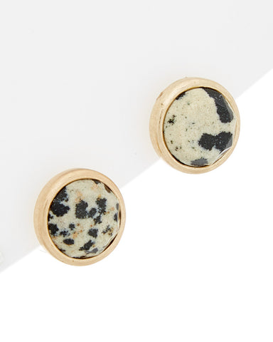 Dalmation Stud Earrings