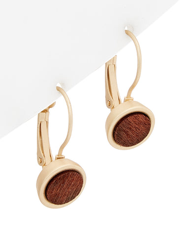 Rosewood Inlay Earrings