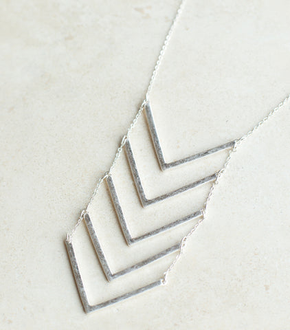 Chevron Multi Drop Necklace