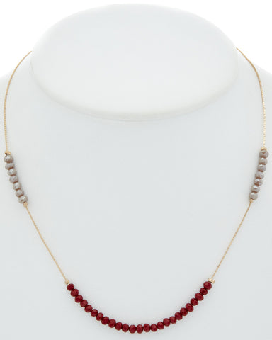Beaded Asymmetrical Necklace
