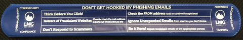 """Don't Get Hooked By Phishing Emails"" Cyber Slap Bracelet (Blue)"