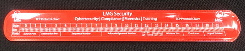 TCP and IP protocol charts Cyber Slap Bracelet (Red)
