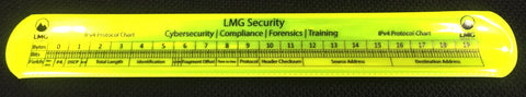 TCP and IP protocol charts Cyber Slap Bracelet (Yellow)