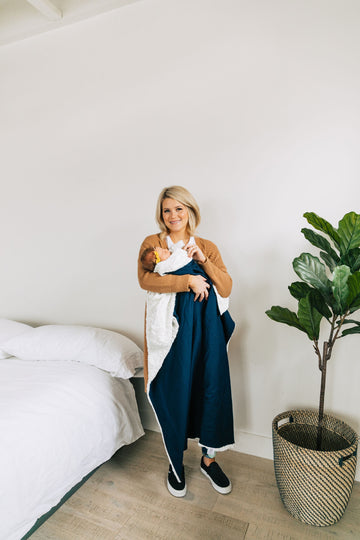 Navy Cozy Blanket