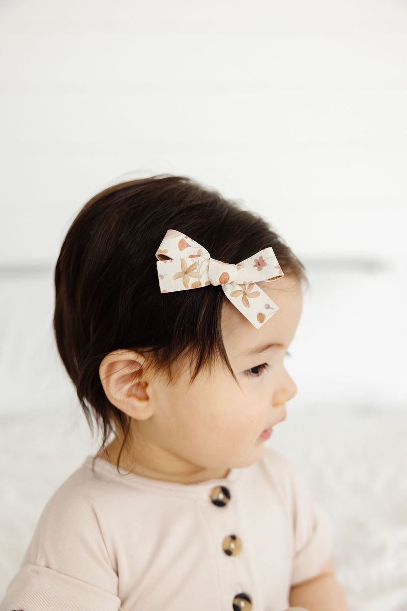 Leather - Terrace Bow Hair Clip