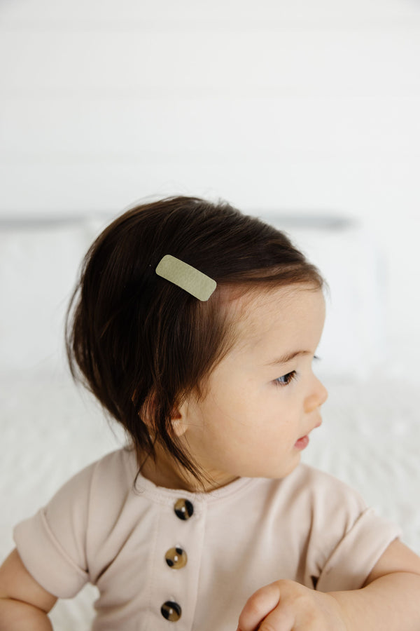Leather - Laurel Snap Hair Clip