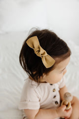 Leather - Pampas Knot Hair Clip