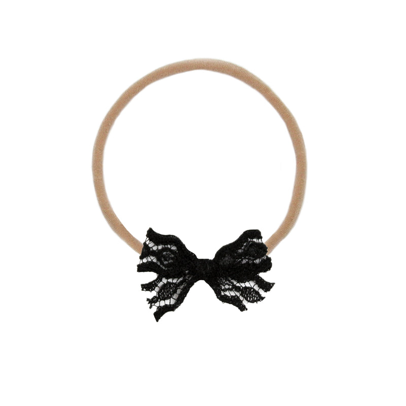 Vintage - Mini Black Lace Bow