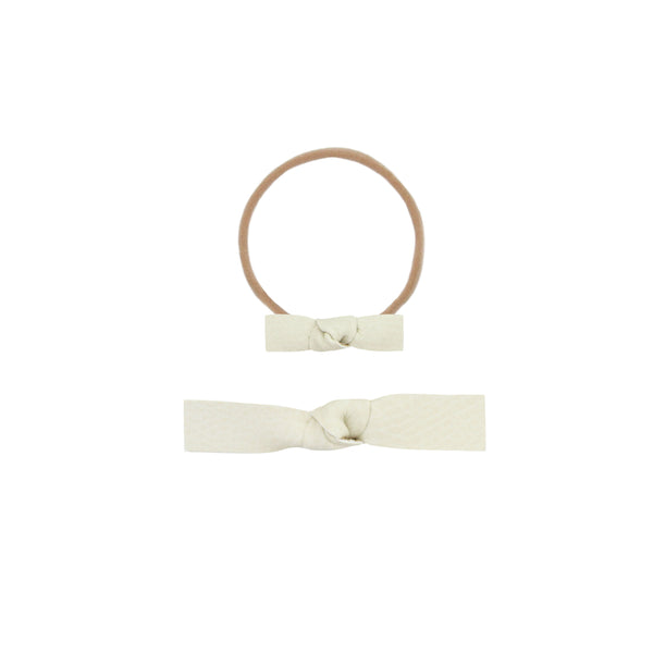 Leather - Blanc Knot Headband