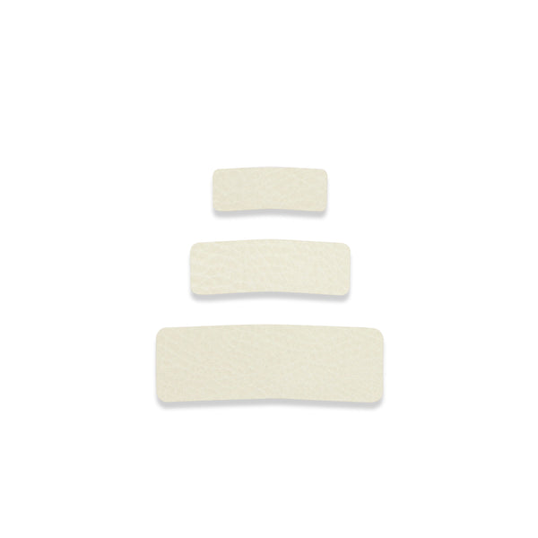 Leather - Blanc Snap Hair Clip