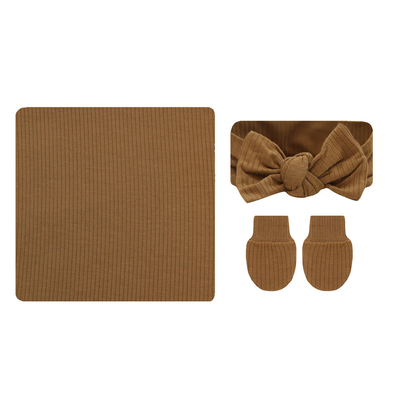 Chandler Ribbed Essential Newborn Bundle (Headband)