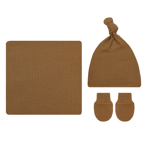Chandler Ribbed Essential Newborn Bundle (Hat)