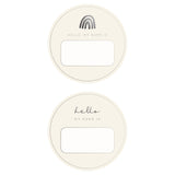 Blank Name Tags - Charcoal Foil (2 pack)