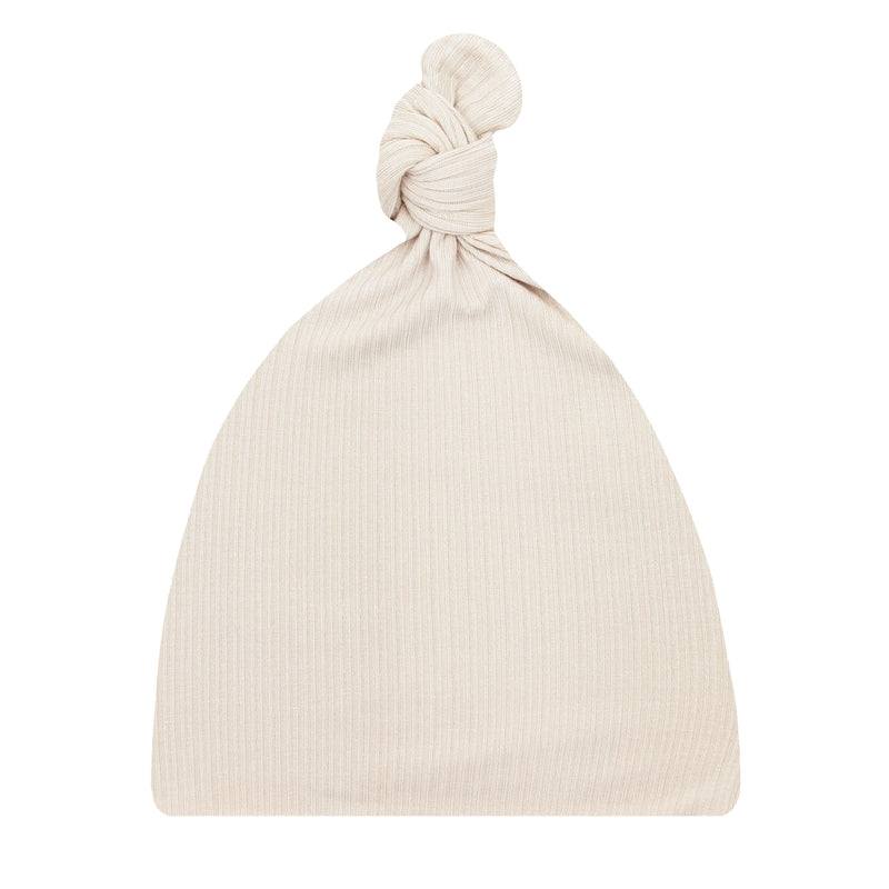 Cove Ribbed Top Knot Hat