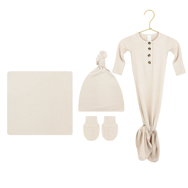 Cove Ribbed Ultimate Newborn Bundle (Hat)