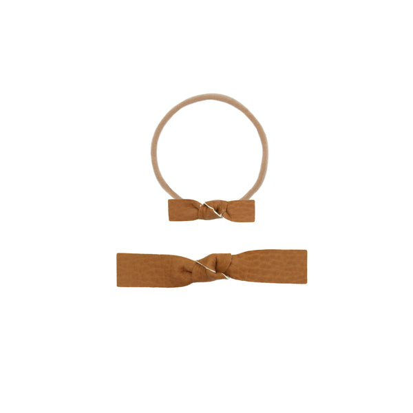 Leather - Ginger Knot Headband
