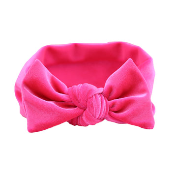 Hot Pink Velvet Knot Headband