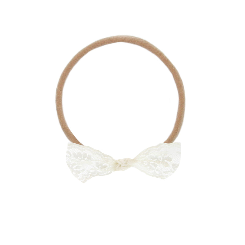 Vintage - Ivory Floral Lace Knot