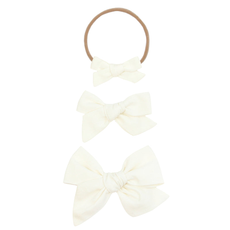 Ivory Classic Bow