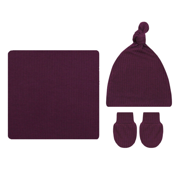 Kylie Ribbed Essential Newborn Bundle (Hat)