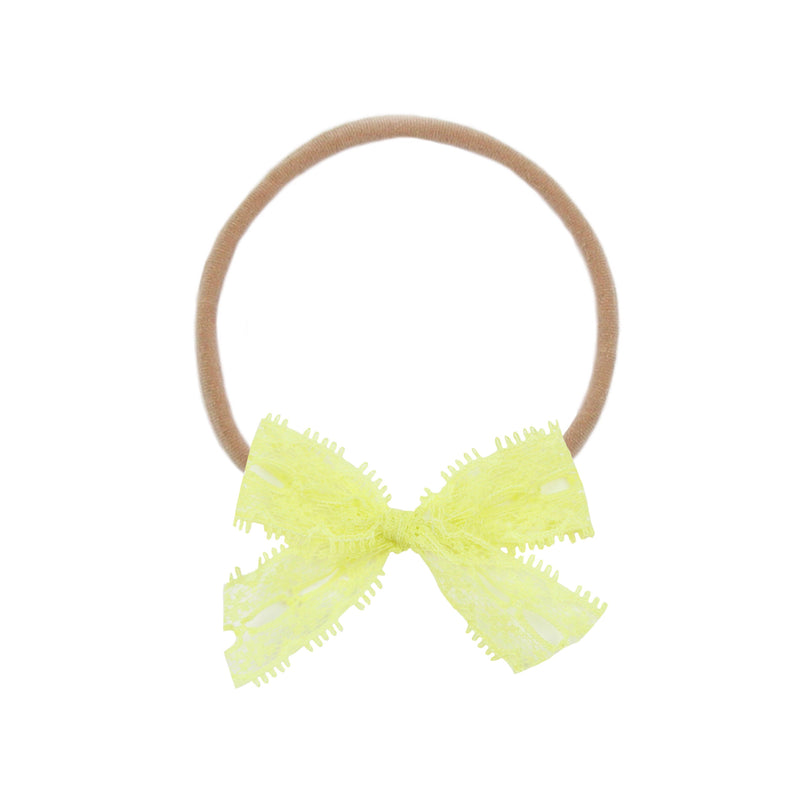 Lemon Lace Vintage Bow