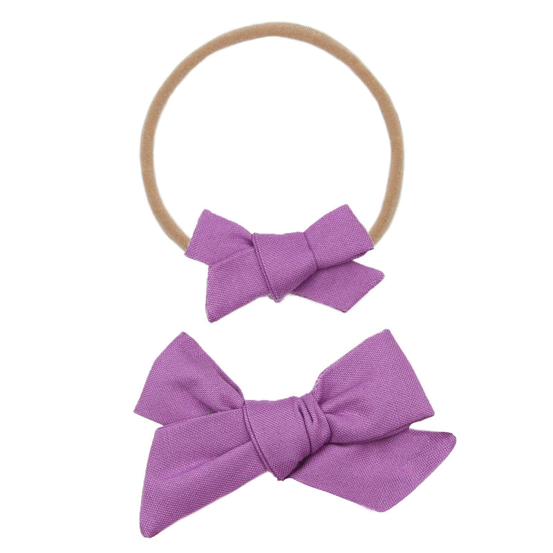 Lilac Classic Bow