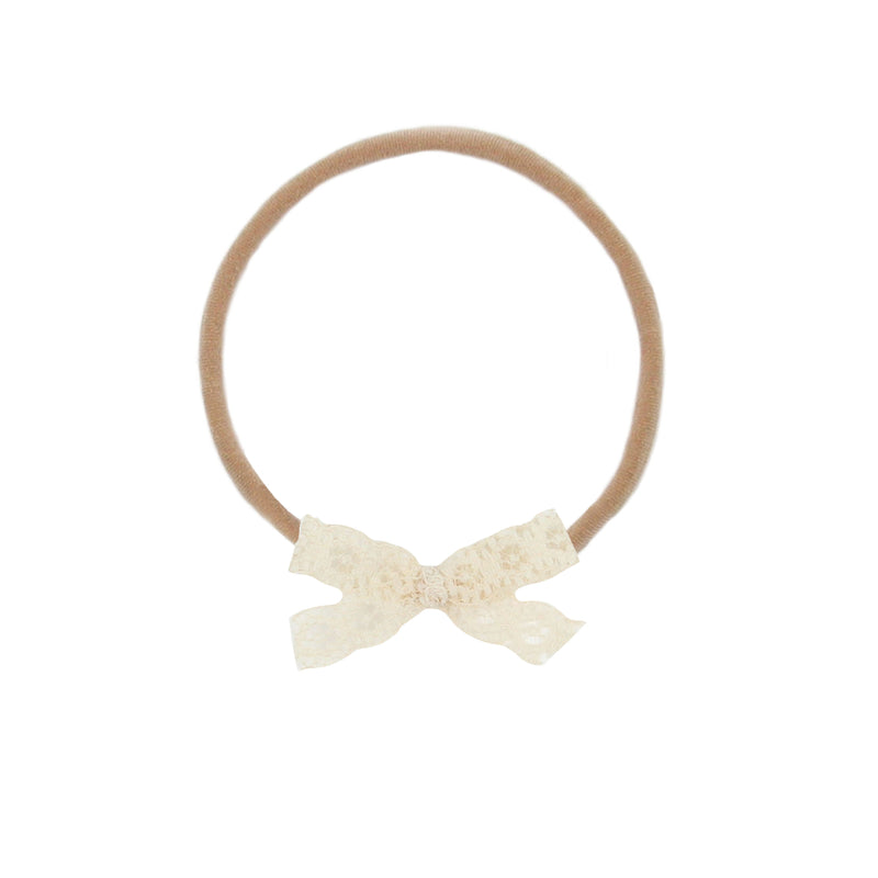Mini Cream Lace Vintage Bow