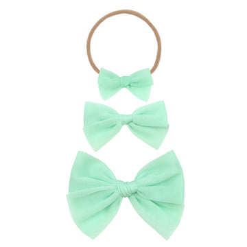 Mint Tulle Bow