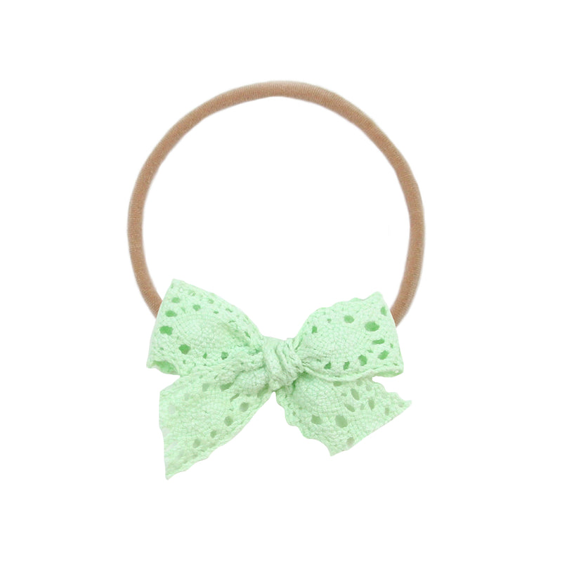 Mint Crochet Vintage Bow