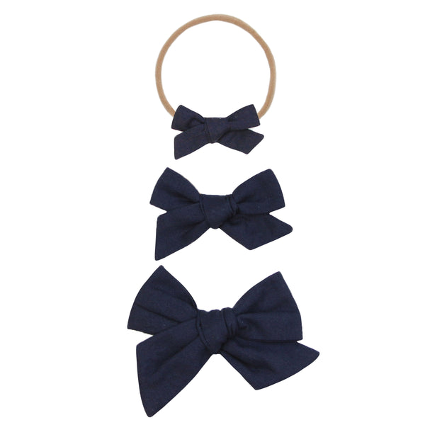Navy Classic Bow