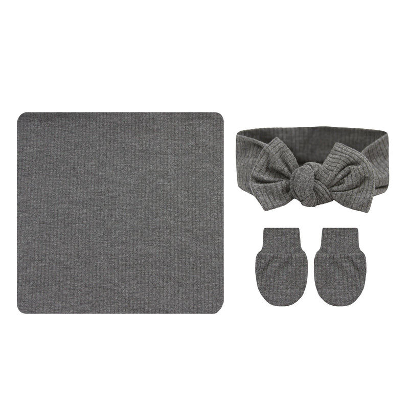 Oakley Ribbed Essential Newborn Bundle (Headband)