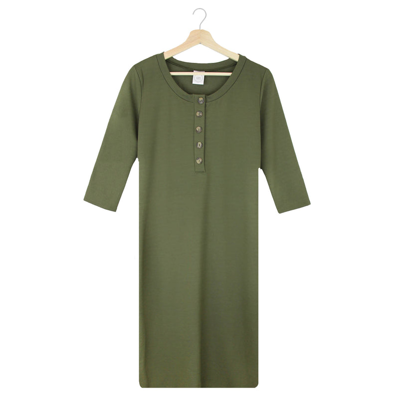 The Everyday Dress - Olive (PRESALE)