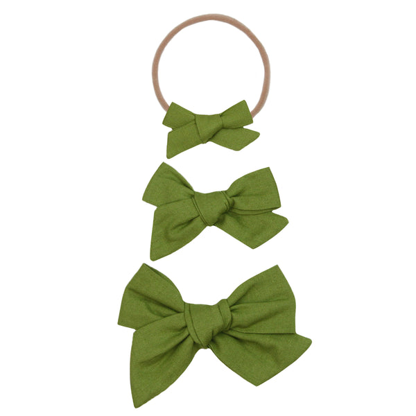 Olive Classic Bow