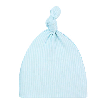 Oliver Ribbed Top Knot Hat