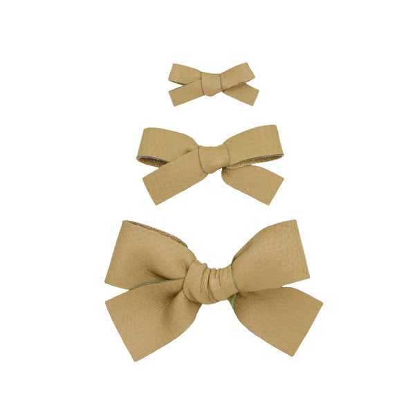 Leather - Pampas Bow Hair Clip