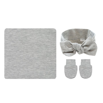Ryan Ribbed Essential Newborn Bundle (Headband)