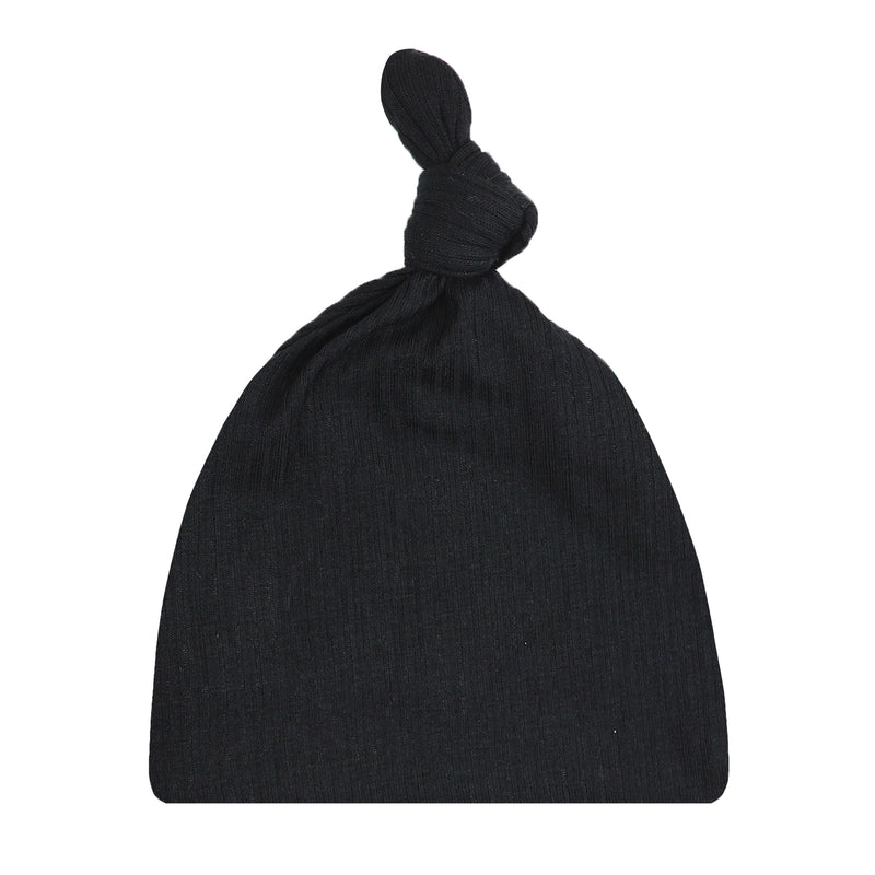Saylor Ribbed Top Knot Hat