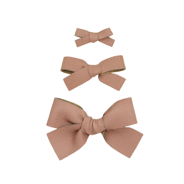 Leather - Sienna Bow Hair Clip