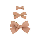 Leather - Sunstone Bow Hair Clip