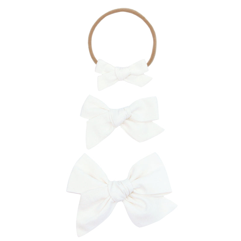 White Classic Bow