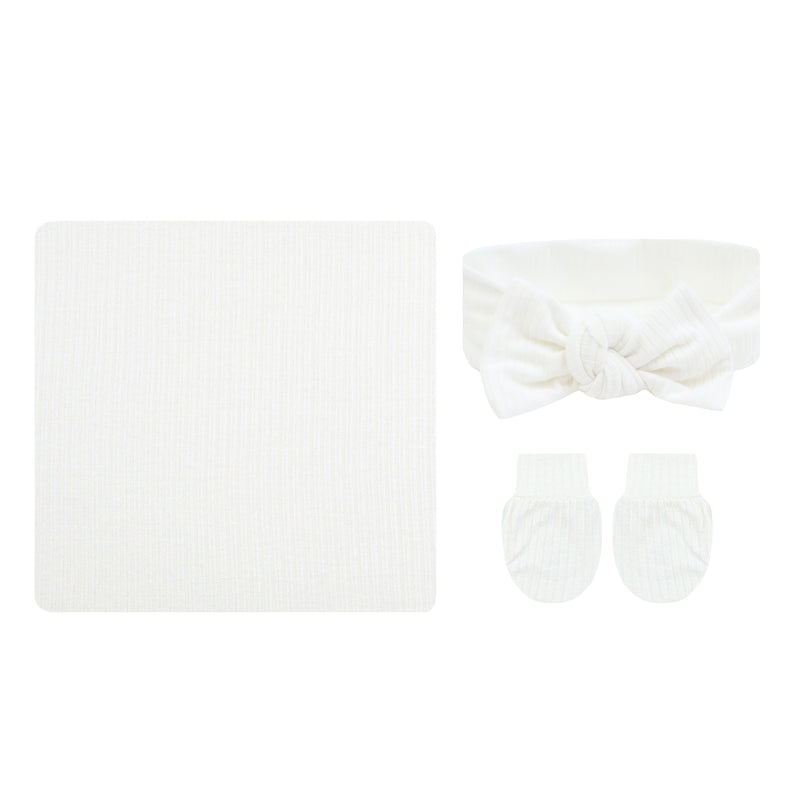 Wren Ribbed Essential Newborn Bundle (Headband)