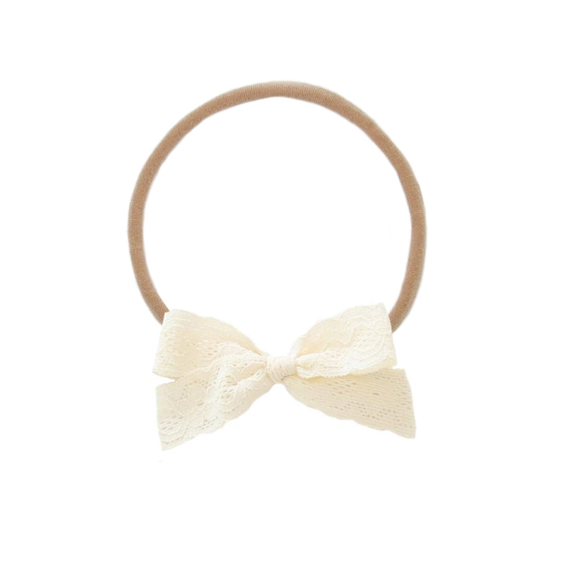 Cream Lace Vintage Bow/Headband